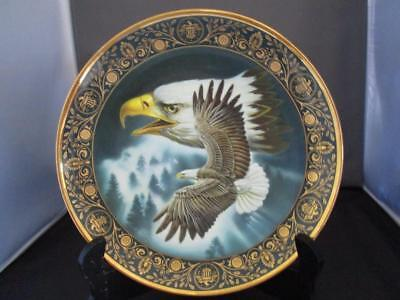 """Royal Doulton 8"""" Eagle Collectors Plate~ On The Wings of Freedom ~Franklin Mint"""