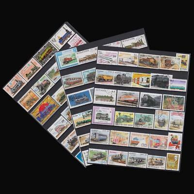 Kinds Of Trains 100 Pieces Used No Repeat All World Collecting Postage Stamps