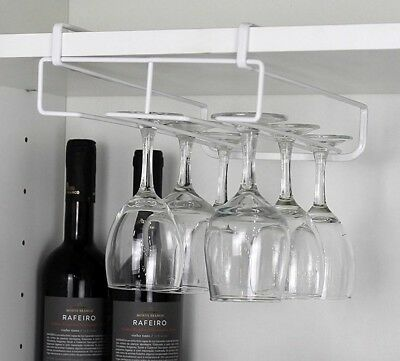 Stainless Steel Wine Glasses Holder Goblet Rack Kitchen Wall Hanging Champagne