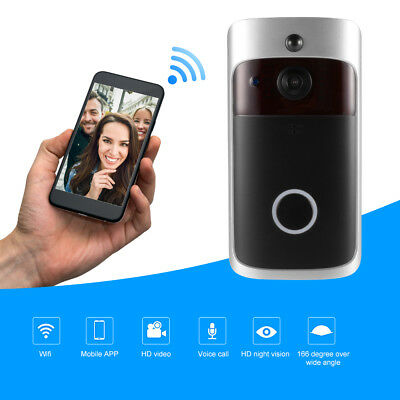 Smart Video Wireless WiFi Doorbell IR Camera Record Home Security System AH423