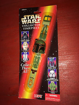 1996 Lucasfilm Star Wars Boba Fett Collector Timepiece Wristwatch NIP!!