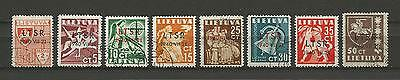Lithuania Litauen Lietuva 1940 U/CTO Mi 449-456 Sc 2N9-2N16 Soviet Occupation is
