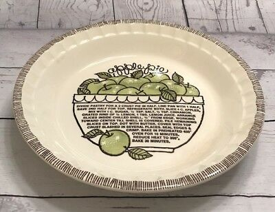 Vintage Country Harvest Apple Pie Plate with Apple Recipe included on plate!