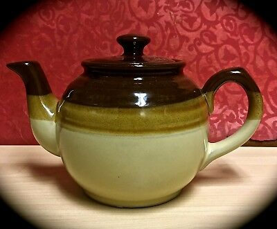 Small One Cup English-Style Made In Japan Red Clay Brown Glazed Teapot Tea Pot