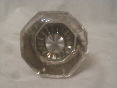antique glass door knob with spindle clear glass 8 side octagon old hardware