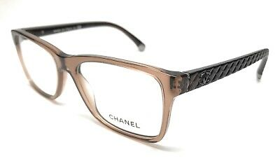 324113c31d670 New Chanel 3325 1529 Brown Eyeglasses Authentic Frame Italy Rx-Able 52-17