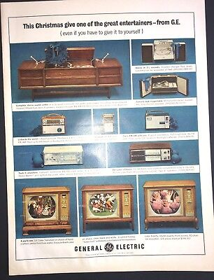 Life Magazine Ad GENERAL ELECTRIC Entertainers 1964 Ad