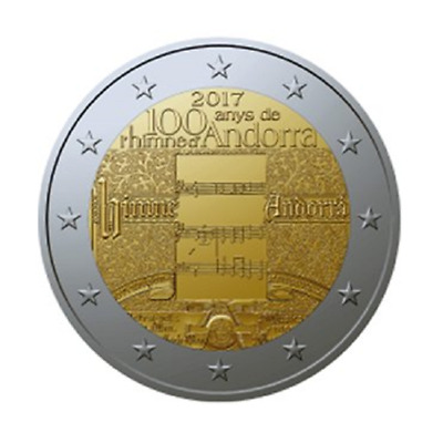 "2 Euro Commémorative Andorre 2017 ""Hymne National"""