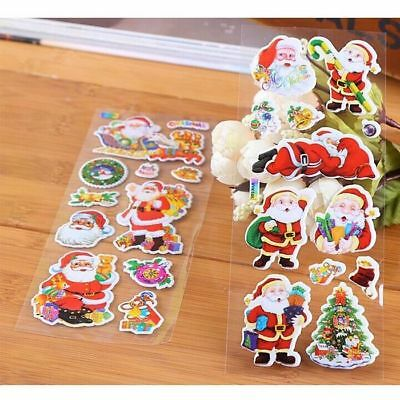 5 Pack Christmas Stickers for Kids Xmas Craft Gift Card-Making Home Decoration