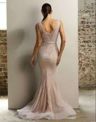 Jadore Blush Pearl Gown - Size 10
