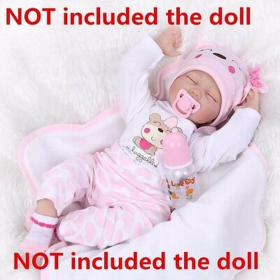 """22"""" Bebe Reborn Baby Girl Doll Clothes Newborn clothing set Not Included Doll US"""