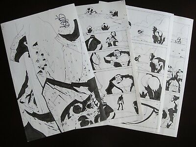 Powers #31 Pages #2 3 4 5 & 6! Michael Avon Oeming SIGNED! Brian Michael Bendis!