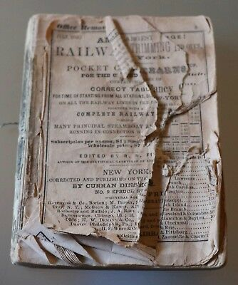 Original 1853 American Railway Guide & Pocket Companion For The U.S., As-Is
