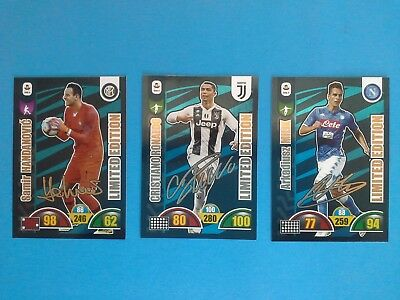 Card Panini Adrenalyn 2018-19 2019 Limited Edition Autografate Set Completo
