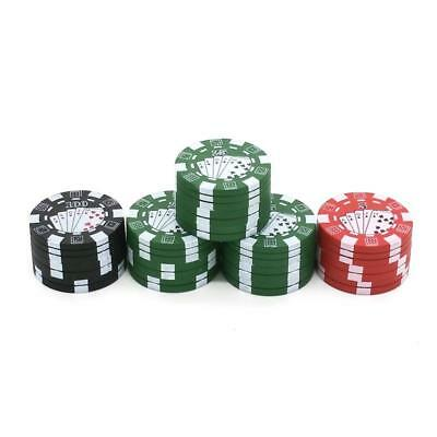 3Layers Poker Chip Style Herb Herbal Tobacco Grinders Smoking Accessories gadget