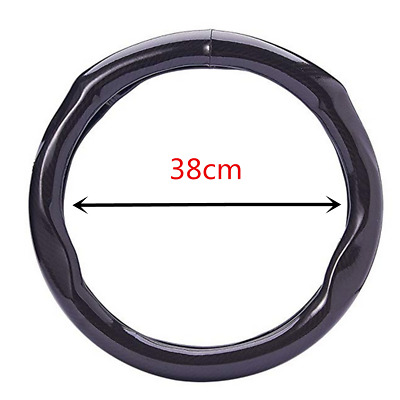 """15"""" Car Carbon Fiber Style Car Steering Wheel Cover For Car Interior Accessories"""