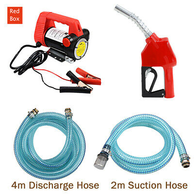 12V Electric Portable Bowser Transfer Pump Auto Diesel Water BioDiesel Fuel