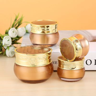 4Sizes Cosmetic Makeup Bottle Acrylic Jar Cream Travel Container Plastic Empty
