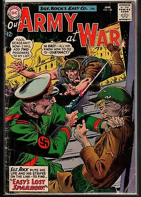 Our Army at War #138 GD 2.0 DC Classic Silver Age War 1964 Sgt. Rock's Easy Co.