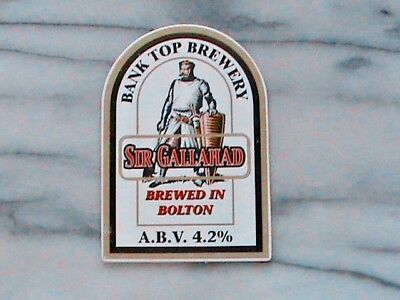 Bank Top Sir Gallahad real ale beer pump clip sign knights of round table theme