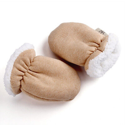 Kawaii Newborn Baby Boy Girl Fleece Gloves Infant Warm Mittens Autumn Winter Pop