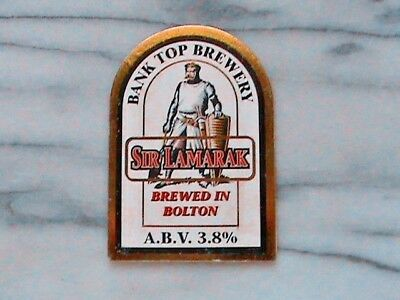 Bank Top Sir Lamarak real ale beer pump clip sign knights of round table theme