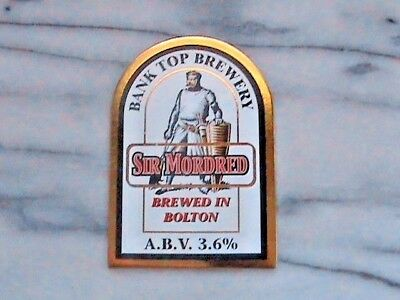 Bank Top Sir Mordred real ale beer pump clip sign knights of round table theme