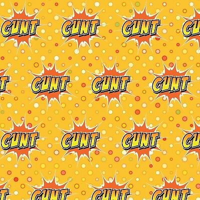 Rude Swearing C*nt Wrapping Paper 4 sheet Pack (Rude C#nt Gift Wrap design)