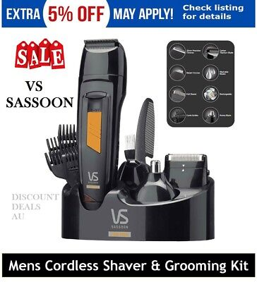 Cordless Shaver Rechargeable Groomer Hair Clipper Trimmer Electric Nose Beard
