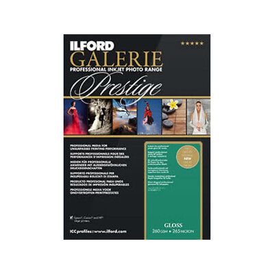 New Ilford Galerie Prestige Gloss Inkjet Photo Paper A2 25 pk