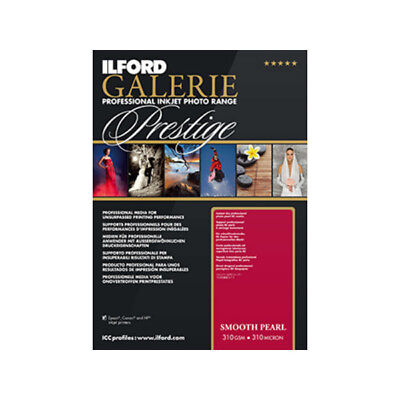 New Ilford Galerie Prestige Smooth Pearl Inkjet Photo paper A2 25 Sheets