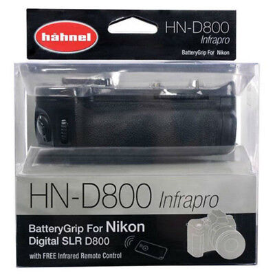 New Hahnel Battery Grip for Fits Nikon D800/D810 - with Remote