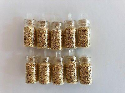 9 Bottles of Gold Leaf Flakes....1ml.... Lowest Price online !!