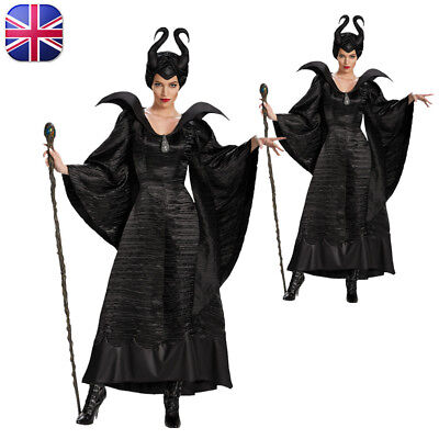 Maleficent Evil Queen Cosplay Costume Outfit Women Carnival Noble Fancy Dress ai