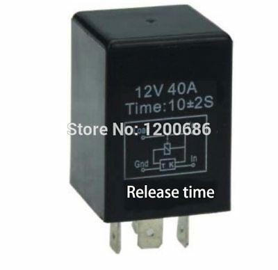 Automotive 12V  Time Delay Relay SPDT 10 Second Delay Release Off Relay 10mini