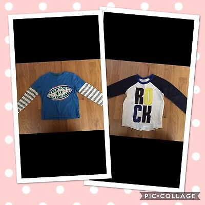 Mini Boden 2/3 Lot Of 2 Boys long sleeve Shirts Play Condition