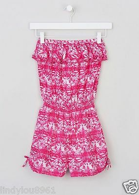 Lovely Pink Bandeau Girls Playsuit Age 16 BNWT
