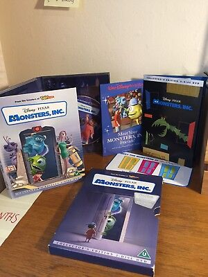 Disney Pixar Monsters Inc Collectors Edition 2 Disk DVD With Case