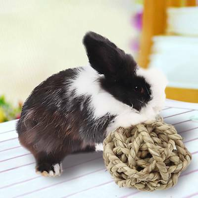 Natural Straw Ball Rabbit Small Pet Cat Rabbit Chewing Toy Teeth Cleaner Train