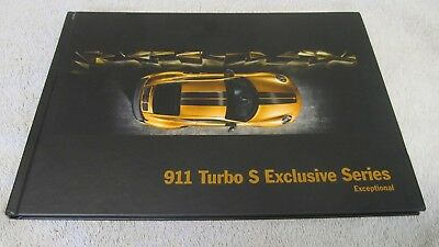 "PORSCHE 911 (991.2) Turbo S Exclusive Series ""Exceptional"" Brochure. NEW. 66pgs."