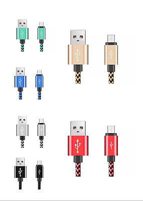 6X 6Ft Nylon Braided Rope USB-C Type-C 3.1 Data Sync Charger Charging Cable Cord