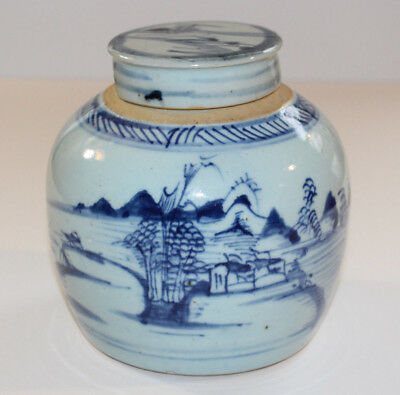 Blue And White Porcelain Ginger Jar  -  Chinese Porcelain  -  Japanese Porcelain