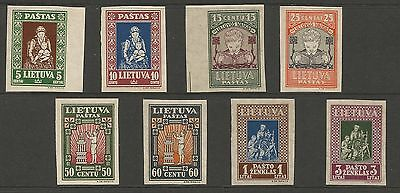 Lithuania Litauen 1933 MNH Mi 364-371 Sc 277C-77K IVth Child issue imperforated