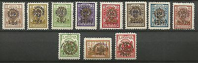 Lithuania Litauen 1926 MH Mi 257-267 Sc B30-42 Children's Orphanages Ben. issue