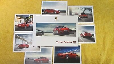 PORSCHE Panamera GTS Hardbound US Brochure AND Set of 7 Postcards. NEW