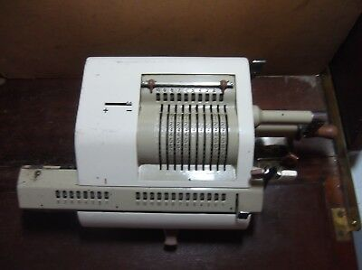 Vintage Minerva Adding Machine late 50's early 60's all dials work not Felix