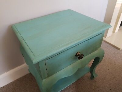 Occasional end side Table Painted in annie sloane provence shabby chic