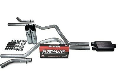 "Chevy GMC 1500 07-14 2.5/"" Dual Exhaust Kits Cherry Bomb Extreme Clamp on Tips"