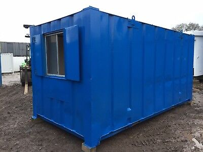 Site Office Cabin 16ft X 8ft Welfare Portable Building Anti Vandal Steel