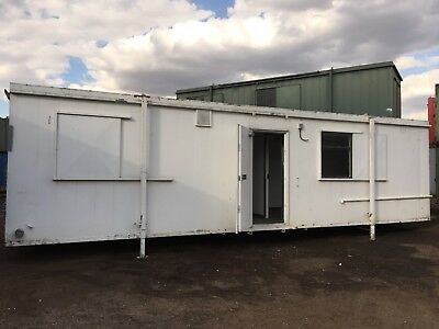 Site Office Cabin Canteen Toilets Portable Steel Building 32ft x 10ft